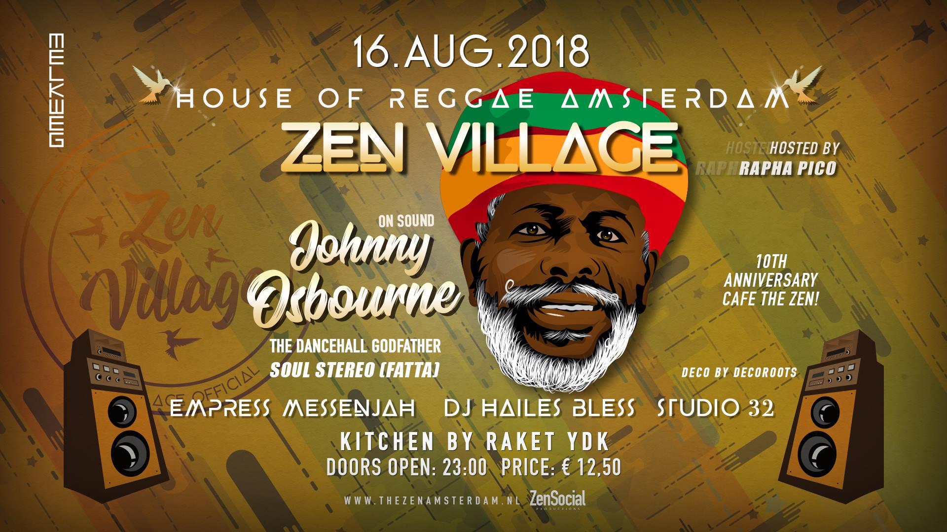 Zen Village: Johnny Osbourne (Jamaica) – Melkweg Amsterdam