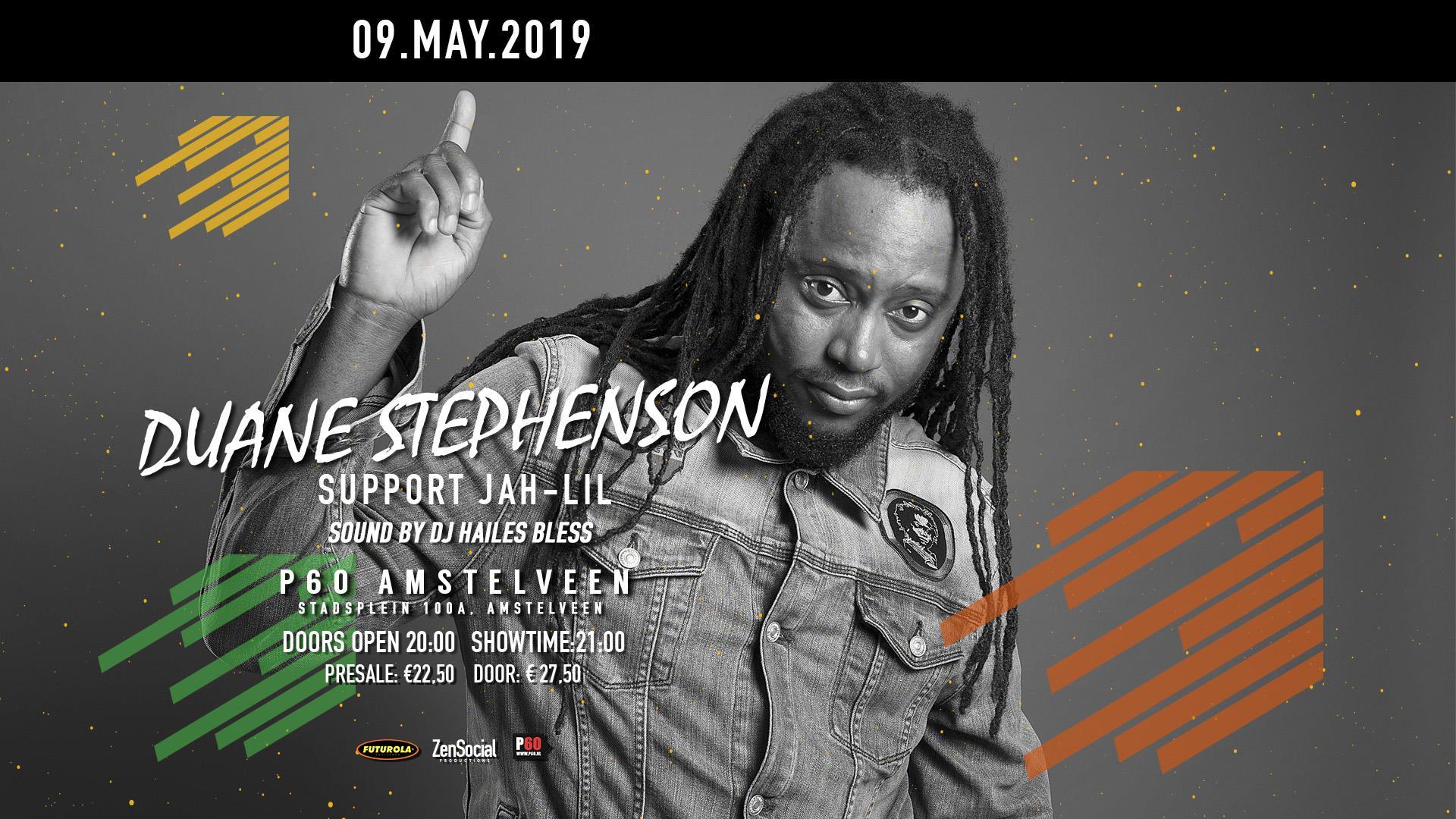 Duane Stephenson + Jah Lil in P60 Amstelveen