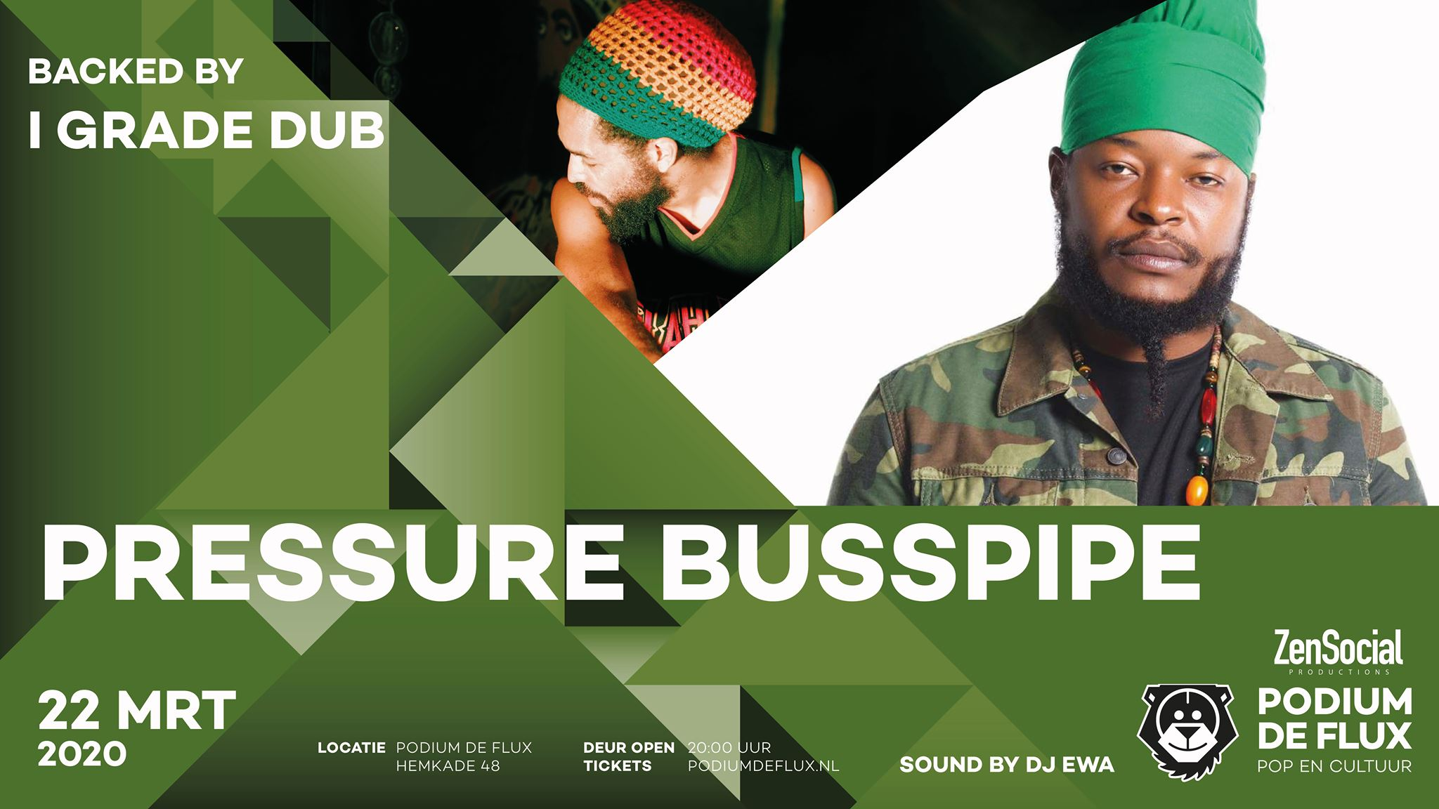 Pressure Busspipe backed by I Grade Dub | Podium de Flux